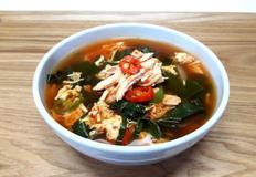 닭 가슴살 (캔) 닭개장 매콤하게 끓이기