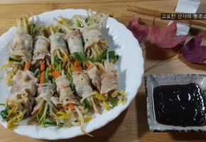 다이어트 요리, 기름기 쫙 뺀 대패삼겹살 채소 찜