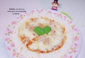 사과잼 또띠아 피자: 노오븐