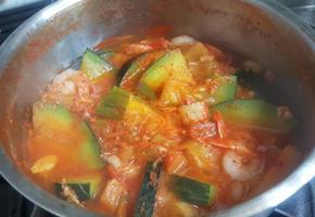 새우 애호박 찌개