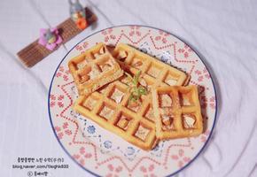 콩가루 와플: 노오븐 베이킹, 간식