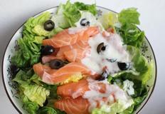 생연어 샐러드,레몬소스 만들기 * 저염식다이어트식단