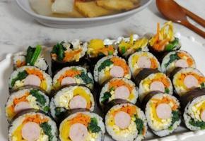 소세지 김밥(이쁘게 말수 있는 특별한 방법!!)