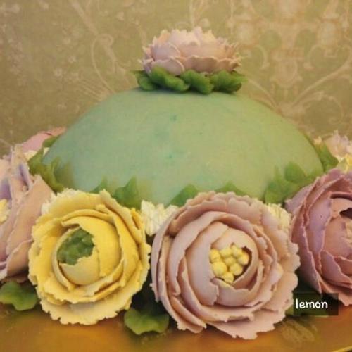 앙금훌라워 모란꽃 피우는 과정과정샷! 제과점 케익위에 몇송이만 얹어도 비주얼이!!