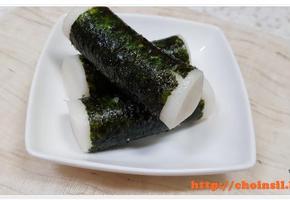 가래떡 맛있게 먹는 방법!! 초간단 가래떡 요리~~ <가래떡 김말이>