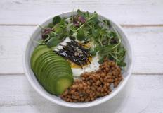 아보카도와 낫또의 만남 아보카도 낫또 비빔밥 만들기