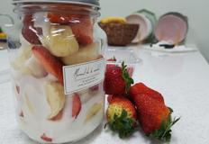 딸기와 바나나가 한컵에~ 초간단이지만 든든한 한컵샐러드