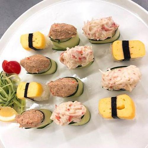 맛좋아! 모둠초밥(참치오이롤초밥,계란초밥,크리미오이롤초밥)