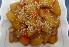 요리법도 간단하며 맛있는 간장 감자조림(아이 밑반찬)