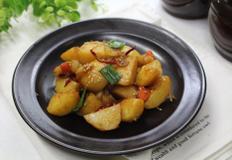 생강조청으로 만든 감자조림!