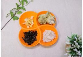 김자반 만들기, 김 요리, 카레 닭구이, 사과 깍두기, 아이 반찬, 유아 반찬, 4살 식단, 3살 식단. 유아식 식