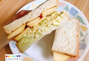 양배추 사과 샌드위치 만들었어요 :) +리틀포레스트
