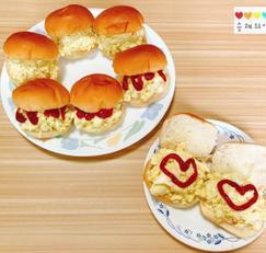 모닝빵으로 계란마요샌드위치 만들었어요 :)