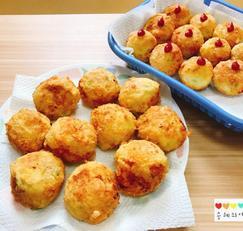 감자치즈볼 만들기 감자치즈고로케 바삭하게 만들었어요 :)