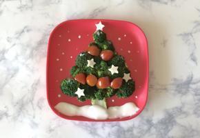 크리스마스 홈파티를 위한 브로콜리 트리 만들기