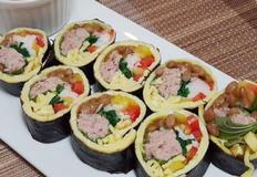 저탄고지 식단 ) 밥 없는 김밥 키토김밥 만들기