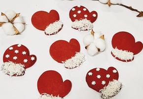 크리스마스 홈파티 장갑 쿠키 만들기