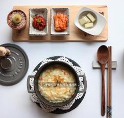 찬밥으로 계란죽 만들기