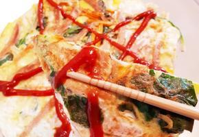 [간단요리] 팽이버섯/시금치/달걀부침