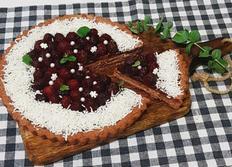 크리스마스에 어울리는 산딸기 초코 타르트 만들기