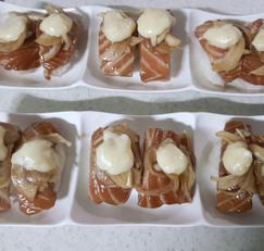 상큼한 유자마요소스 & 간장연어초밥:D