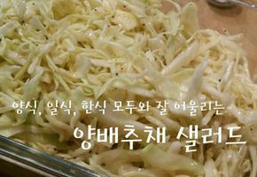 마요네즈 안 들어가고도 훨씬 더 맛있는 초스피드 퓨전 건강 양배추채 샐러드 만들기