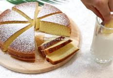 노오븐 베이킹) 핫케이크 가루로 밥통카스테라 만들기