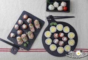 크리스마스요리 계란말이 초밥 김초밥 만드는법! 베이컨말이 초밥도 돌돌~~