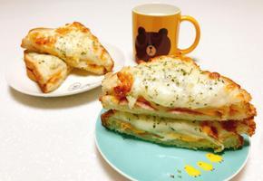 크로크무슈 만들기 베샤멜소스도 만들어서 우유와 함께 브런치 먹었어요 :)