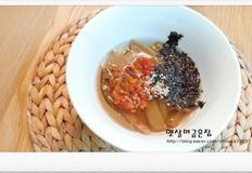 도토리 묵밥 만드는법 속 까지 뜨끈