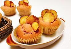 고구마칩 머핀 만들기 고구마앙금이 듬뿍 들어있어요 :)