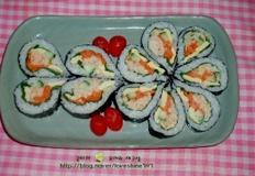 연어캔 활용요리/ 연어 땡초김밥,연어 김밥