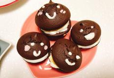 겨울의 초콜릿간식 초코파이 만들기 마쉬멜로우와 커피크림이 함께 들어있어요 :)