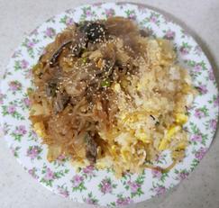 매콤하고 부드러운 달걀잡채밥:D