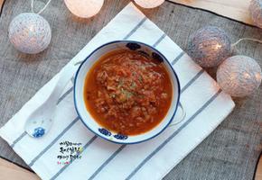 이나영,원빈의 다이어트식단 떠먹는 스테이크 토마토 양파 스테이크 (토마토스튜)