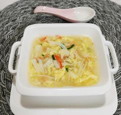 중국식계란탕! 크래미 넣은 게살스프(부드러운 계란국)