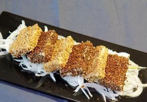 두부들깨구이/ Pan fried Tofu with sesame seed & Perilla seed