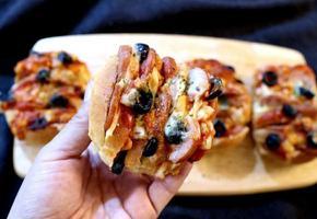 모닝빵으로 간식 만들기 간단 피자빵