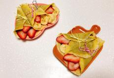 딸기바나나크레페 만들기 누텔라초코잼이 들어있어 더 좋아요 :)