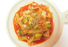 [분식요리]중국 납장 당면을 넣어 만든 간단하고 이색적인 납작 당면 볶이