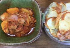 에어 프라이어로 만든 감자 튀김과 반찬으로 좋은 참치 감자 짜글이