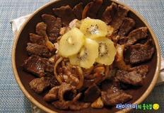 갈빗살스테이크덮밥:오이지초밥은 입맛 돋우고 양념갈빗살은 기운 돋우고