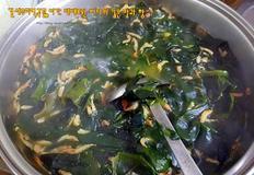 건새우미역국끓이기: 제대로된 바다의 깊은 맛과 향