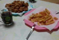 초간단 후라이드치킨~닭튀김.감자튀김.양념소스