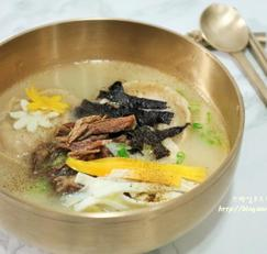 명절에 맛있는 소고기 떡국 끓이는 법