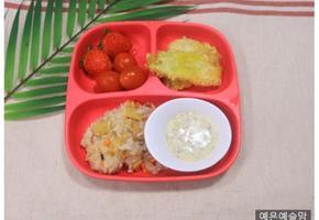 유부 볶음밥, 아이 반찬, 유아 반찬, 유아식 식단, 4살 식단, 5살 식단,