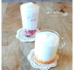 우유에 빠진 딸기와 귤,딸기우유, 귤우유