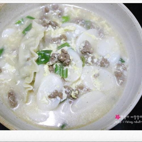 떡국 / 떡만두국 - 새해 음식 설날 음식