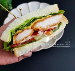 치킨 샌드위치 #주말간식
