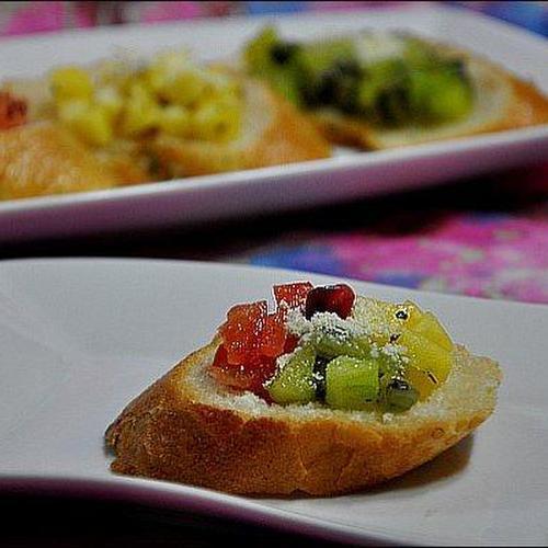 ♪ 간식, 후식으로 좋은 삼색 과일 브루케스타
